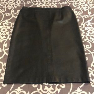 Zara Faux Leather Pencil Skirt - Large